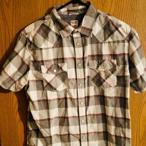 Mossimo short sleeve button down shirt gently used